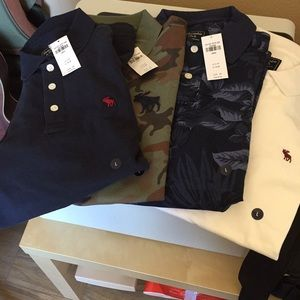 Bundle of Abercrombie and Fitch polos